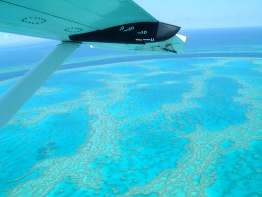 Great Barrier Reef by Plane
