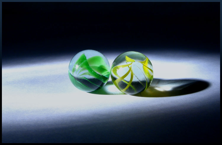 green and yellow marble