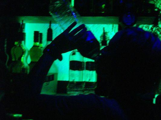 green drinking