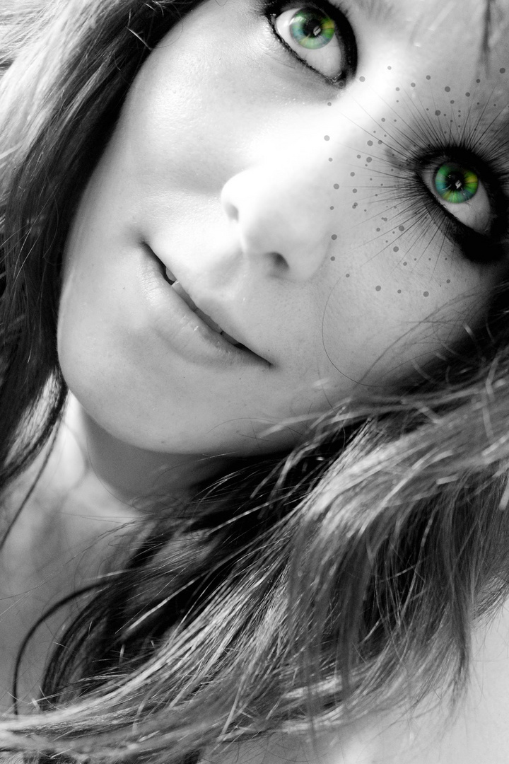 green eyes/shine
