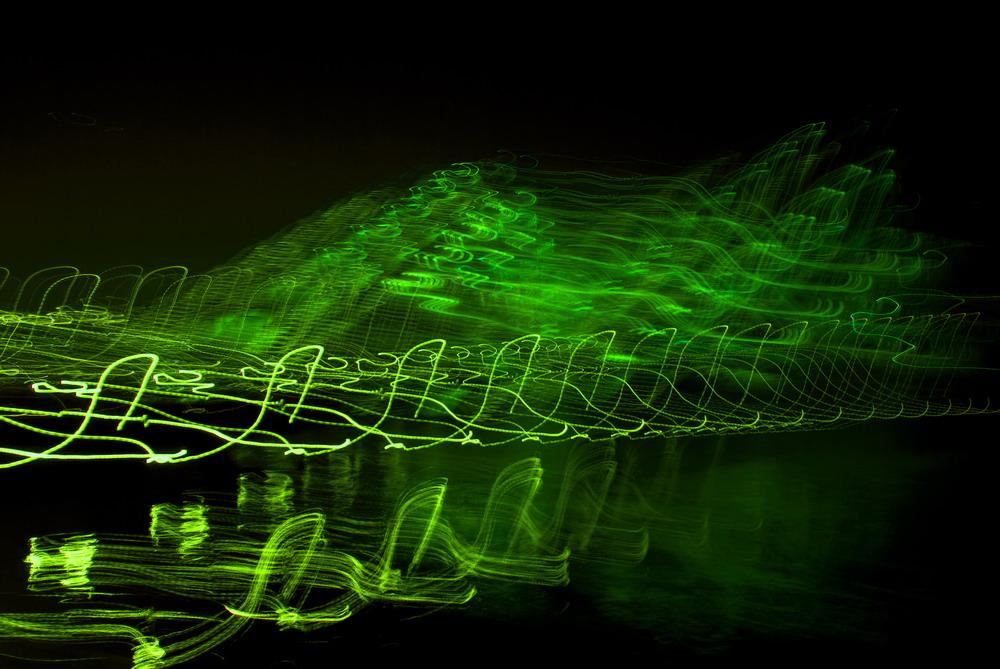 green waves