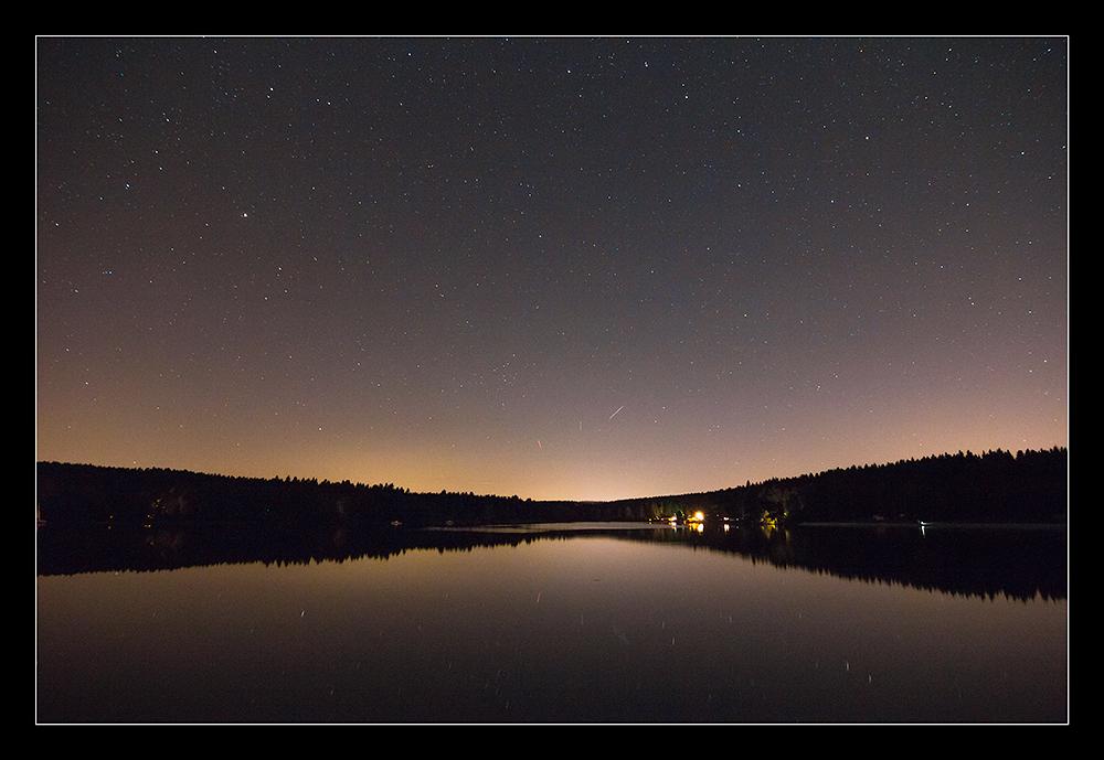 Greifenbach-Stauweiher bei Nacht