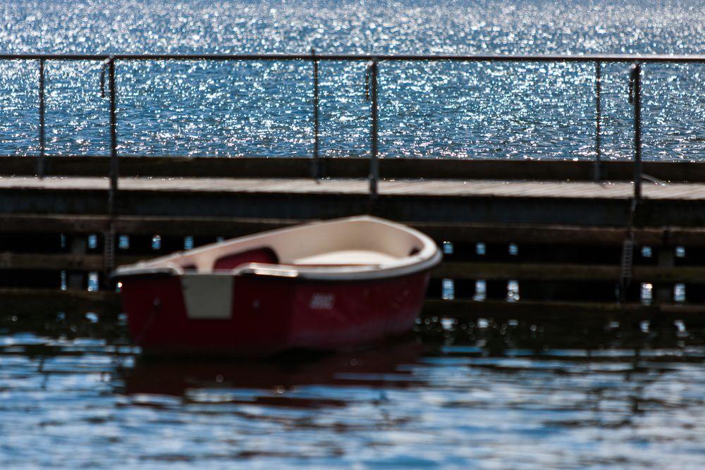 Greifensee mit Boot