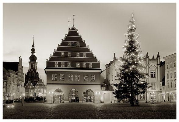 Greifswalder Markt zu Weihnachten