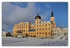 Greiz - Unteres Schloss im Schnee