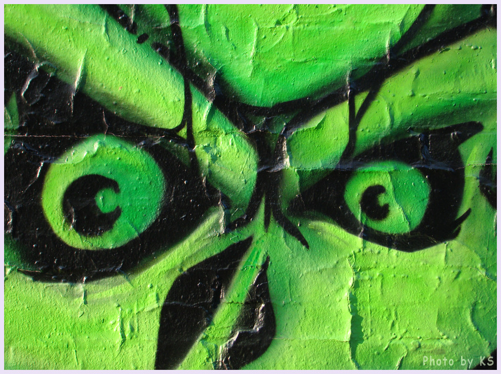Grelles Graffitidetail