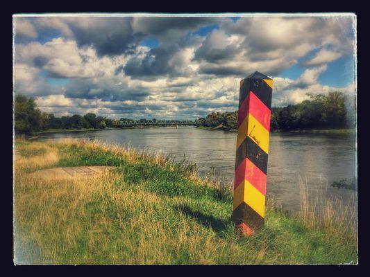 Grenze Deutschland / Polen bei Hohenwutzen
