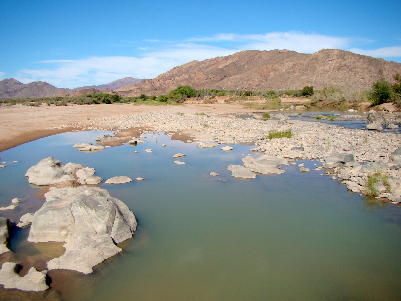 Grenzfluss-Oranje -Namibia - Südafrika.