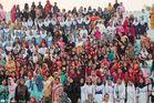 Grenzschließung am Wagah Border (die weiblichen Zuschauer)