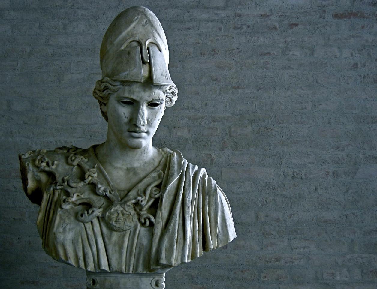 Grieche mit Helm