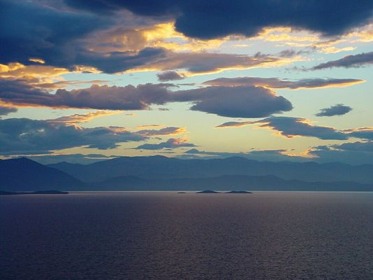 Griechenland - Abendhimmel