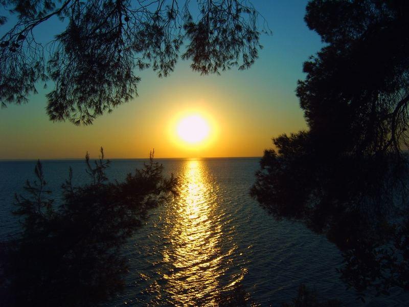 Griechenland Sonnenuntergang