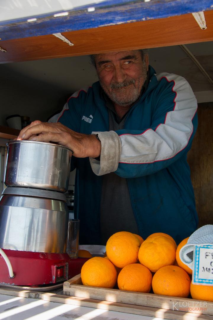griechischer Orangensaft