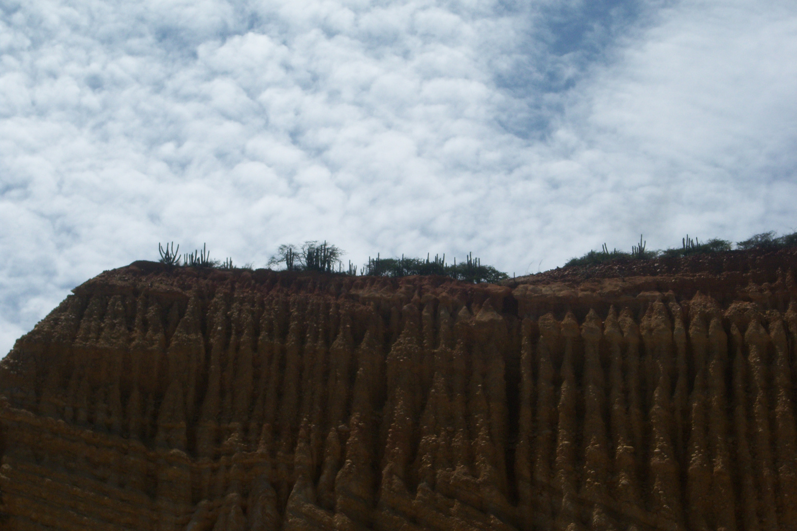 Grietas naturales. Cerro en Cumaná . Edo Sucre