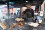 Grillstand auf der Strasse .. bei Kapstadt als Reportage-STORY
