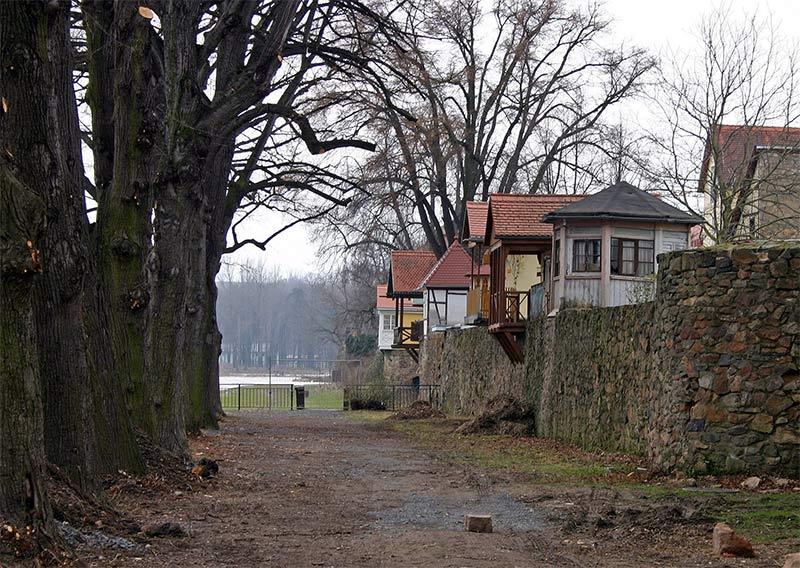 Grimma/Sa - Stadtmauer zur Mulde