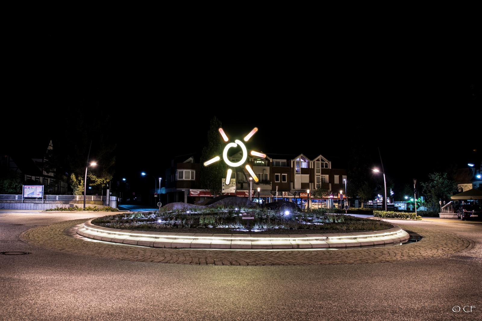 Grömitz Kreisel At Night