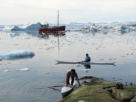 Grönland im Sommer, am Fjord von Ilulissat