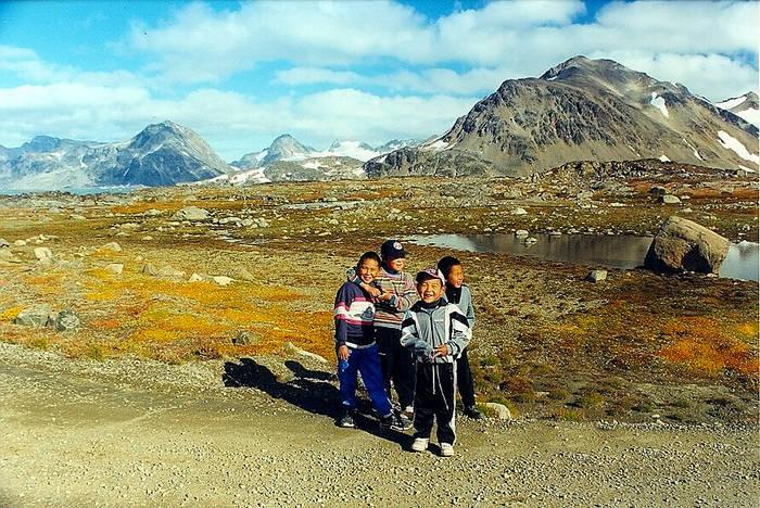 Grönlandische Kinder