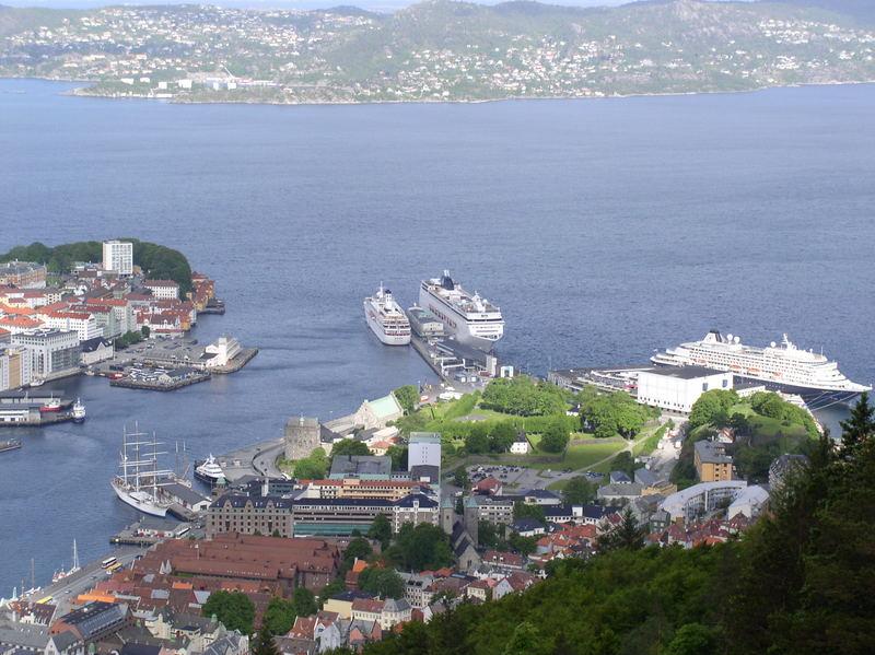 Größenvergleich im norwegischen Bergen