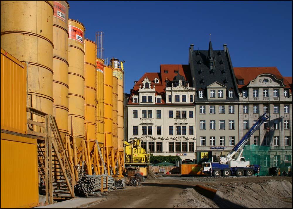 Großbaustelle Leipziger Markt