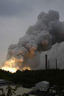 Großbrand im Volkswagen-Werk Baunatal