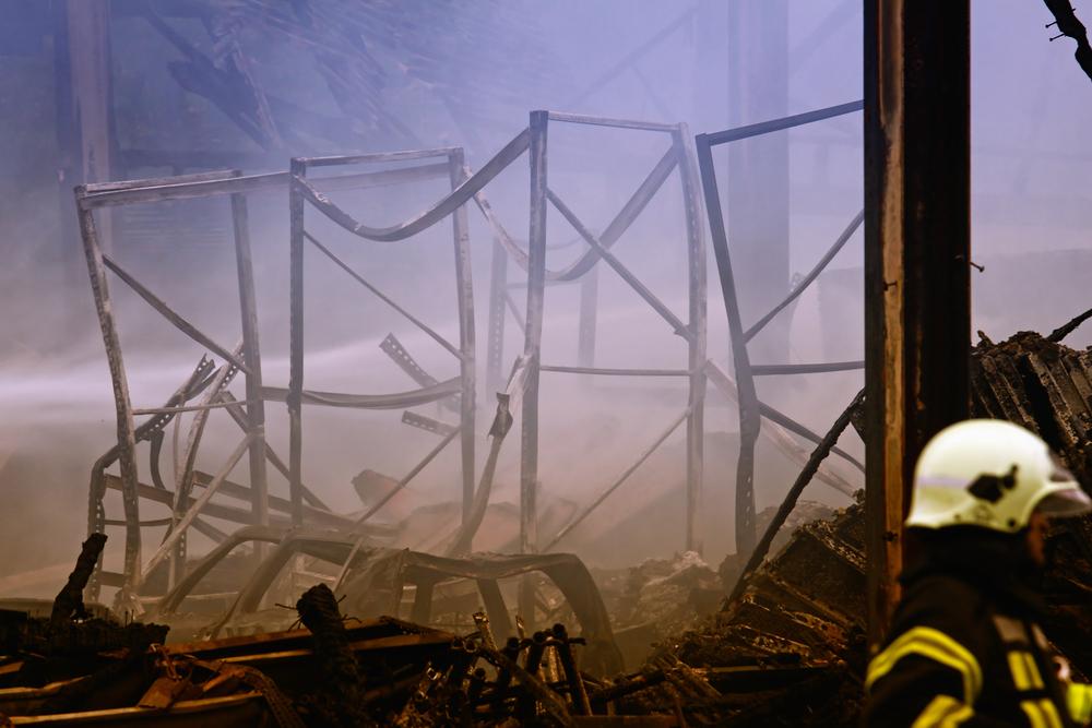 Großbrand in Wuppertal,Lagerhalle abgebrannt