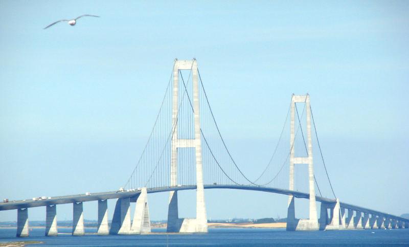 Große Belt Brücke in Dänemark