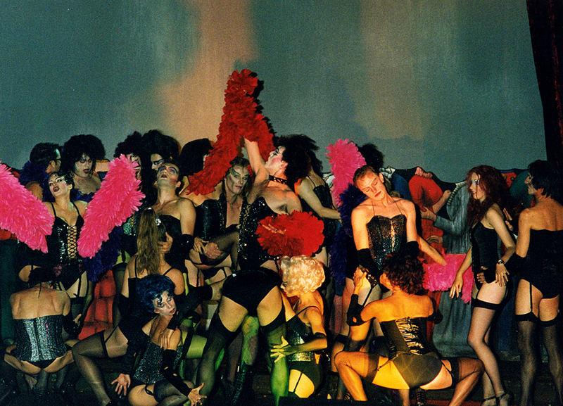 große bühnenbesetzung rocky horror zum finale 1997 tecklenburg