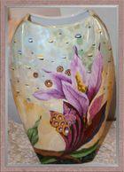 Große Vase, handgemalt