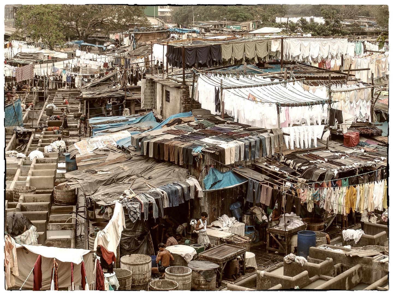 große Wäsche in Mumbai...