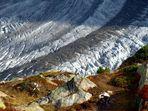 Grosser Aletschgletscher in der Herbstsonne