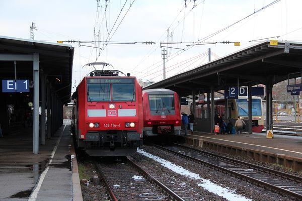 """großer Bahnhof nach Sturm """"Joachim"""" in Villingen"""