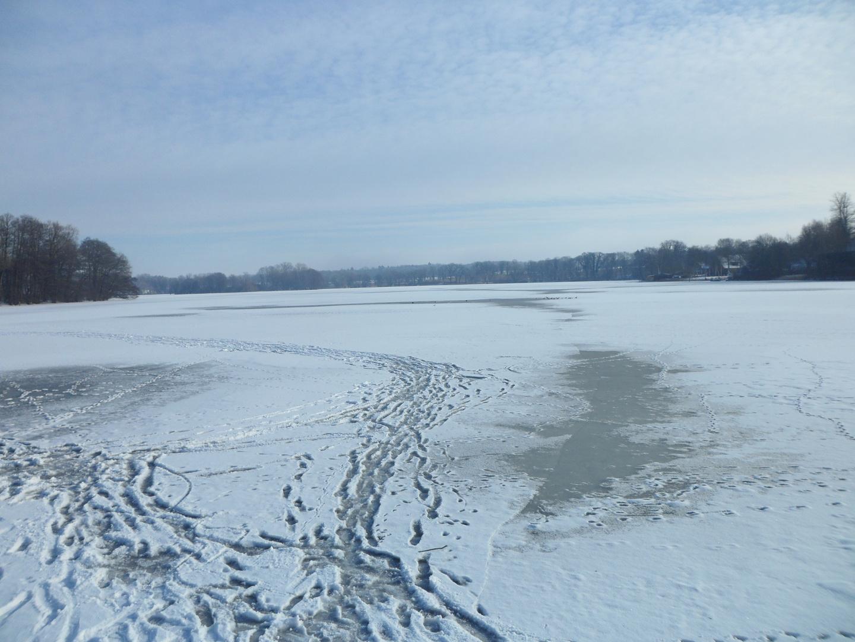 Großer Eutiner See zugefroren