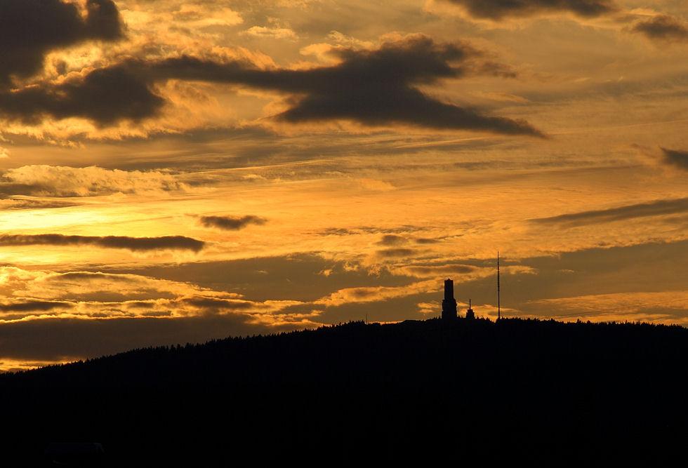 Grosser Feldberg bei Sonnenuntergang