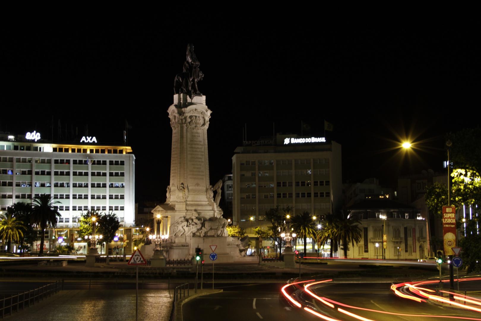 Großer Kreisverkehr Marque de Pombal in Lissabon