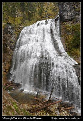 Grosser Wasserfall in der Wasserlochklamm