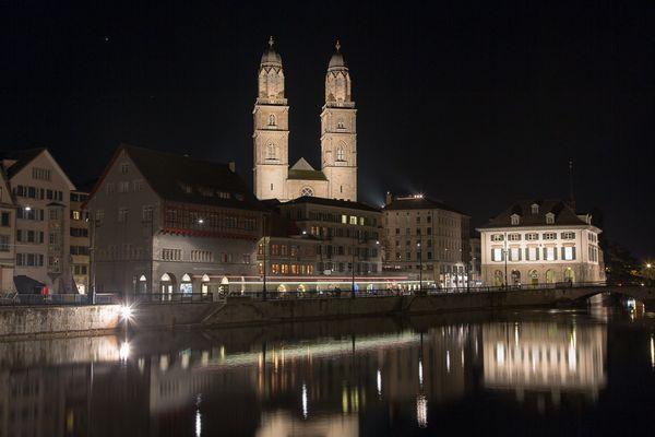 Grossmünster by night