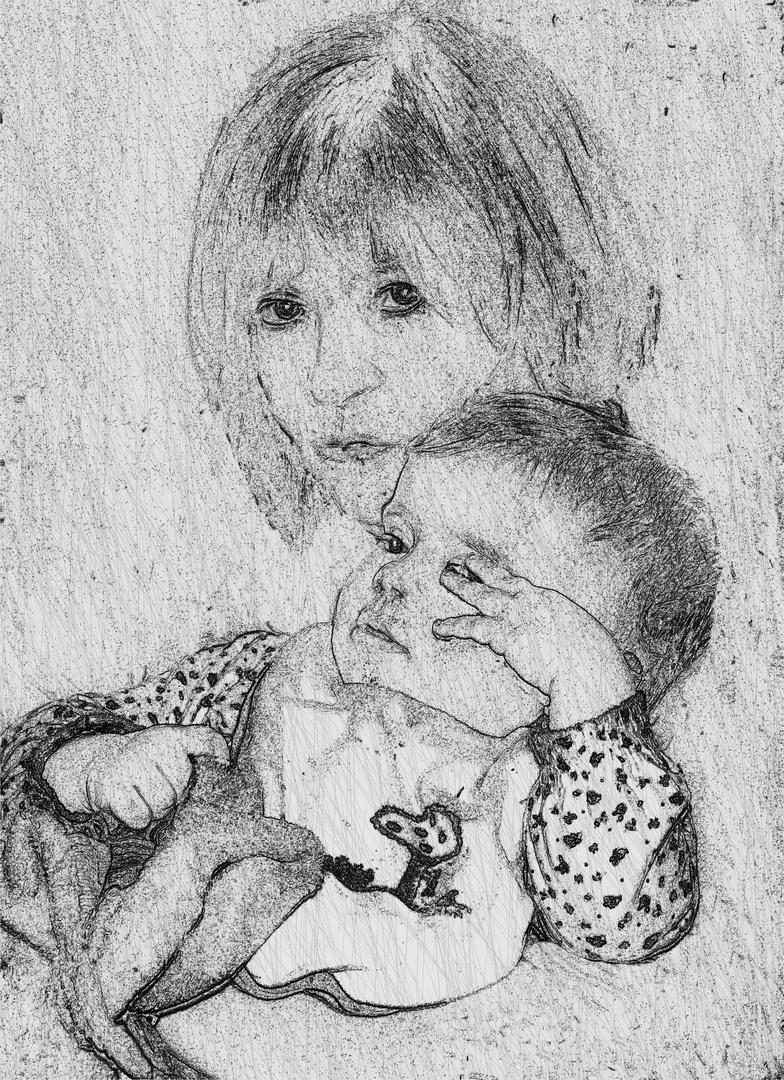 Großmutter mit Enkelin