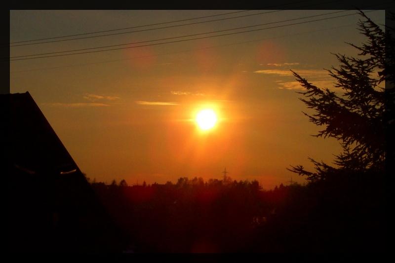 Großstadt?Sonnenuntergang