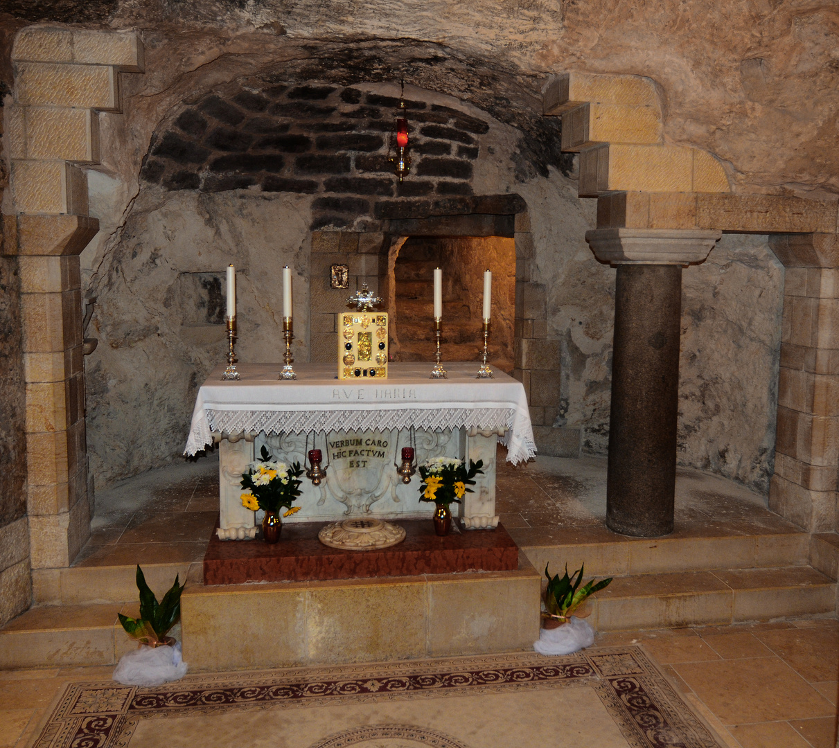 Grotte in der Verkündigungskirche in Nazareth