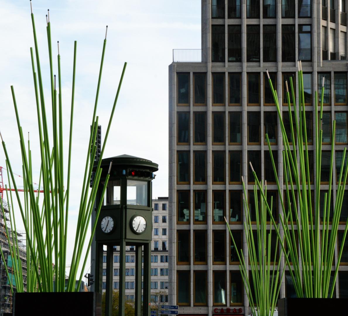 Grün am Potsdamer Platz.