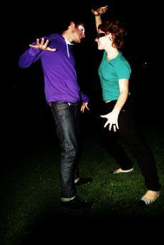 Grün und Lila sind tanzbar