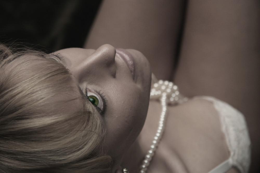 .... grüne Augen ...