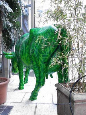 grüne Kuh (von hinten)