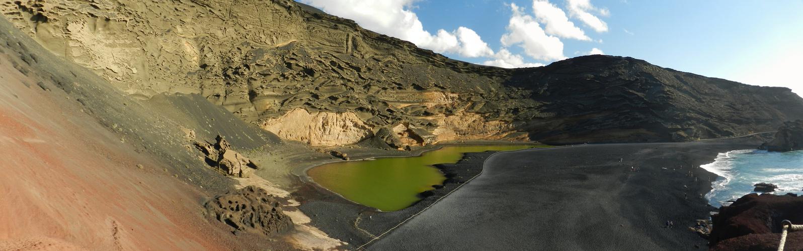 Grüne Lagune El Gölfo auf Lanzarote
