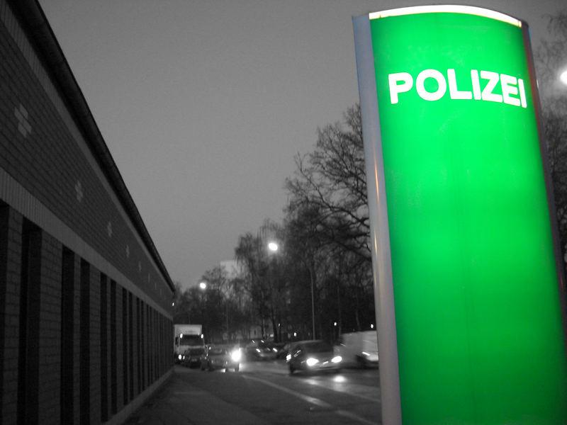 """""""grüne Polizei"""" in schwarz/weiß"""