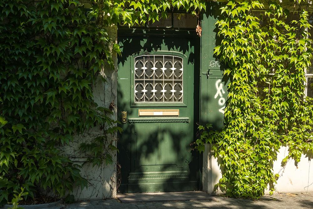 Grüne Tür im grünen Bereich