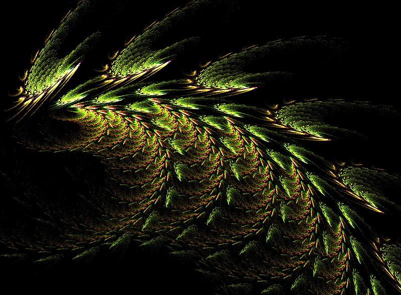 Grüner Drachenschwanz