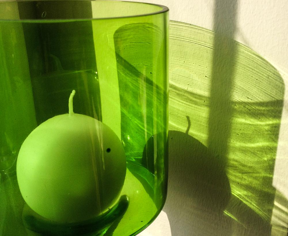 grüner Schatten